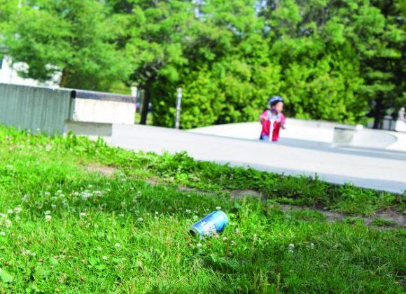 Opération ramassage de déchets à Saint-Bruno